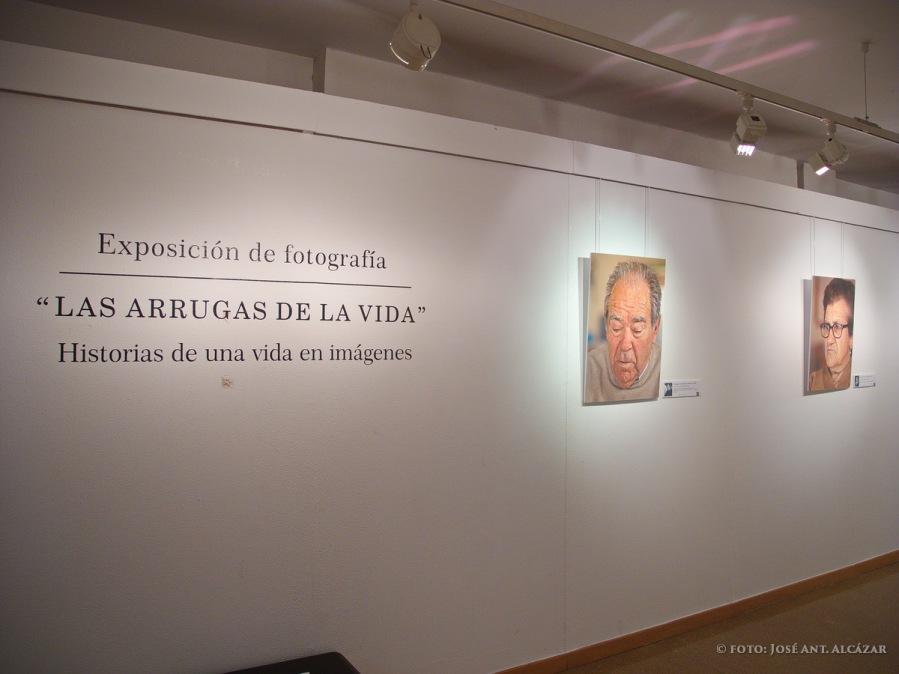 """Visión parcial de la exposición """"Las arrugas de la vida"""""""